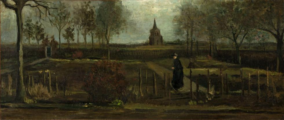 Картина Винсента Ван Гога «Сад прихожан в Нюэнене весной 1884 года»