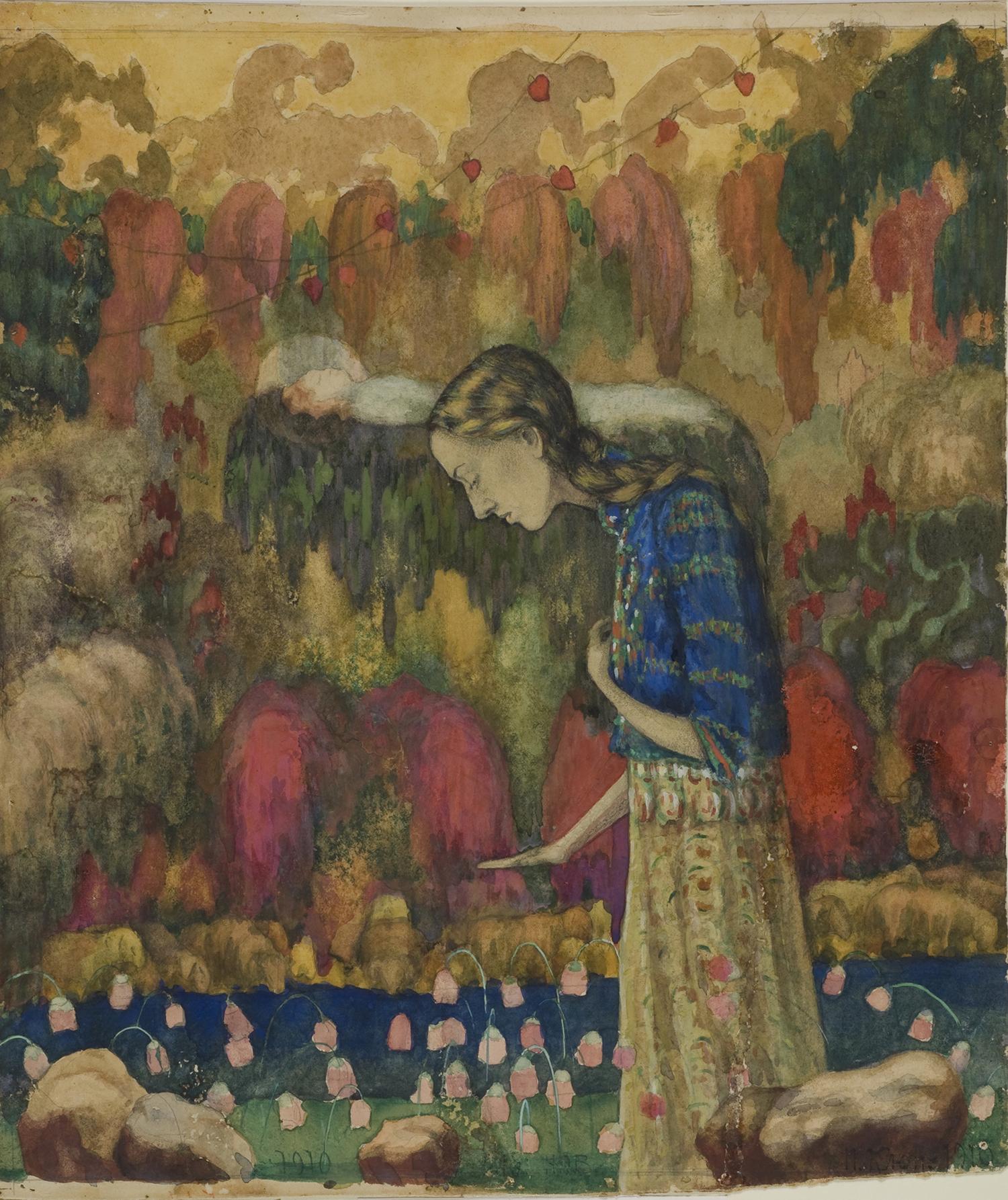 Иван Клюн. Портрет жены художника, 1910 / Из коллекции Георгия Костаки / MOMus