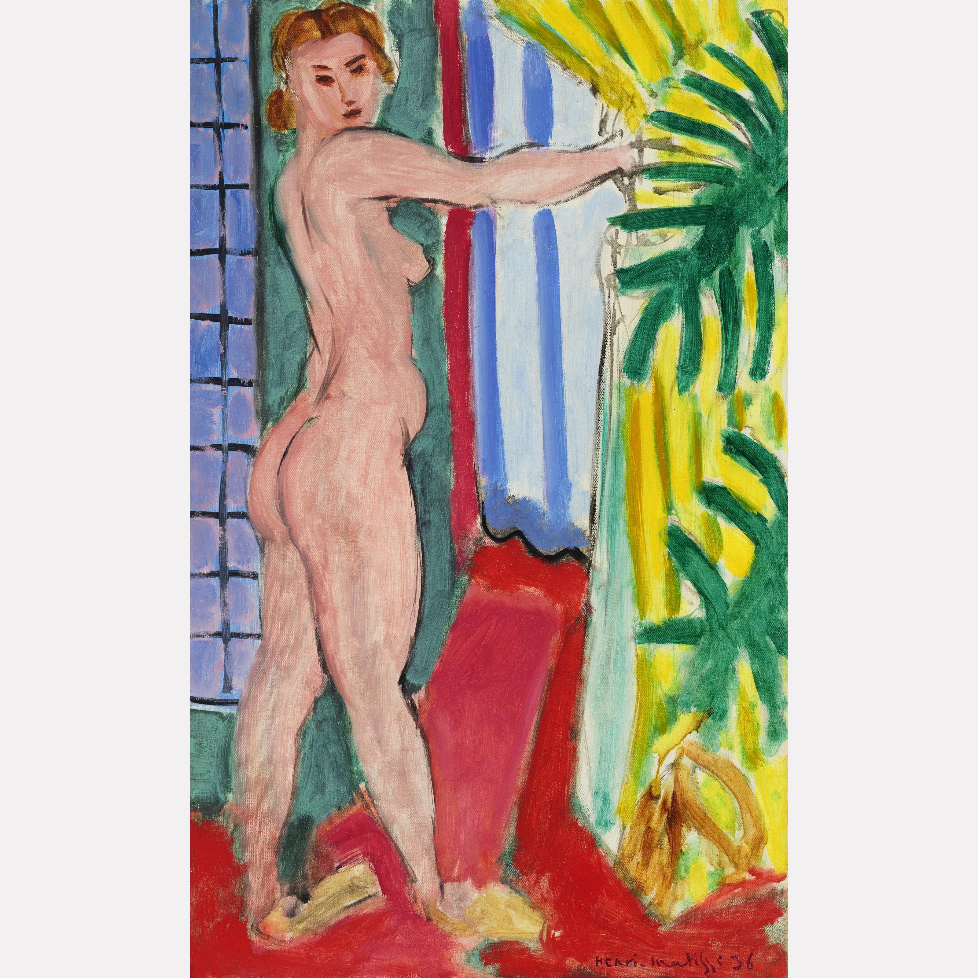 Анри Матисс. Обнаженная перед дверью («Nu debout devant la porte»), 1936