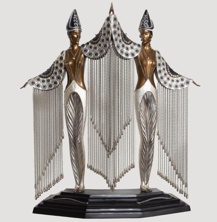 Эрте. Скульптура из бронзы с жемчугом, 1990