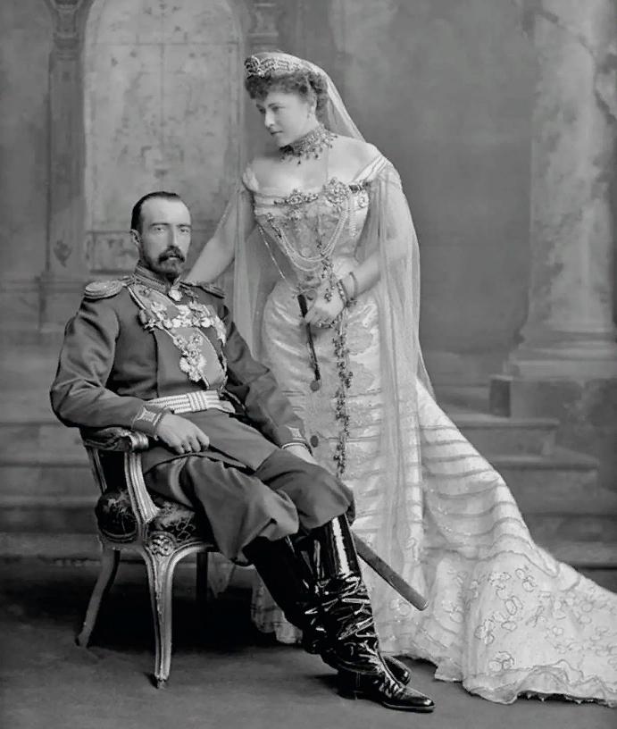 Великий князь Михаил Михайлович (1861-1929) и София Меренберг, графиня де Торби (1868-1927).