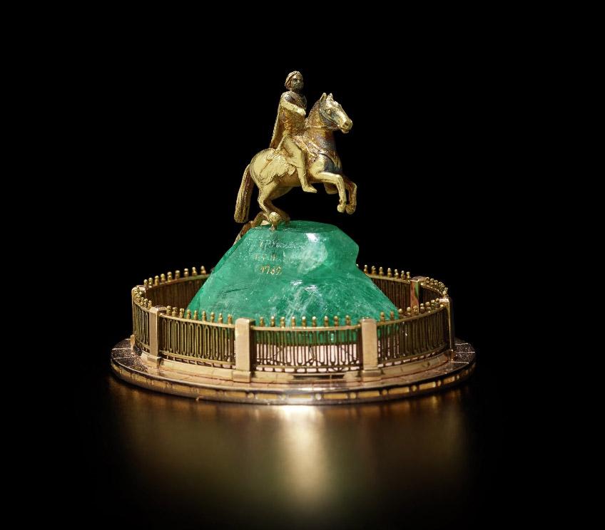 «Медный Всадник» Fabergé, мастер Михаил Перхин, 1896-1903