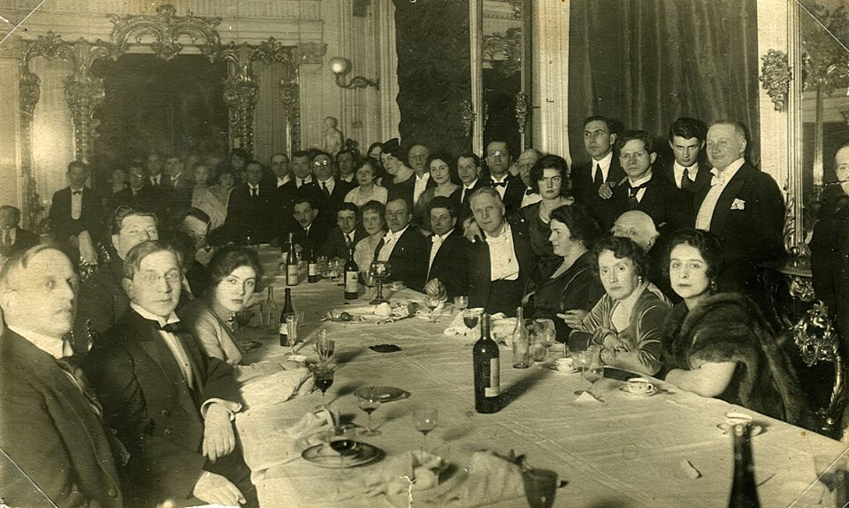 Неизвестный автор. Прощальный ужин с Федором Ивановичем Шаляпиным перед отъездом в эмиграцию, 1922