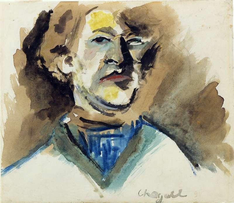 Марк Шагал. Автопортрет, 1911 / Музей Израиля