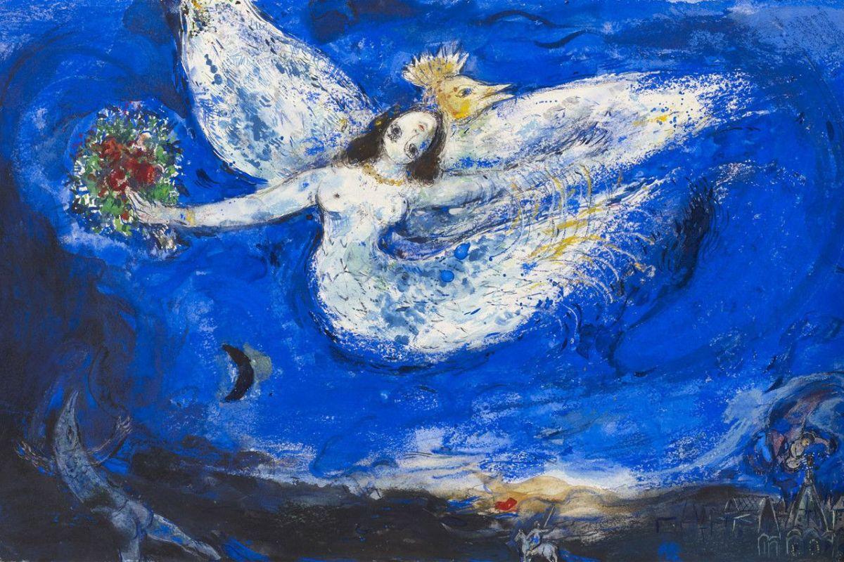 Эскиз занавеса Марка Шагала к балету «Жар-птица» Игоря Стравинского