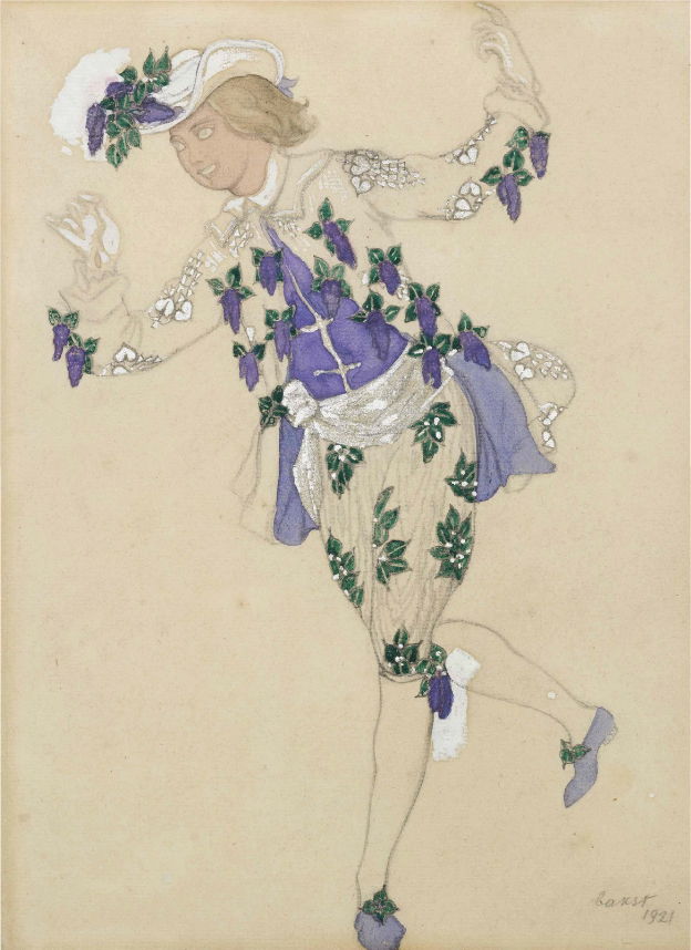 Лев Бакст, 1921 / Дизайн костюма для «Спящей красавицы»: паж феи Сирени / £20,000-£30,000