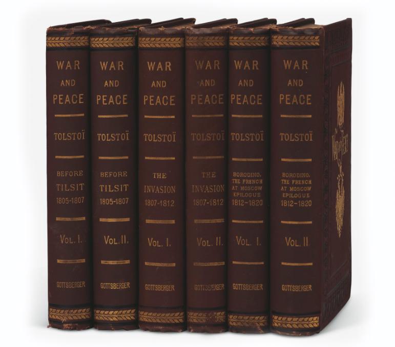 Лев Толстой, «Война и мир» («War and Peace») / Издание 1886 года в шести томах, Нью-Йорк / фото Christie's