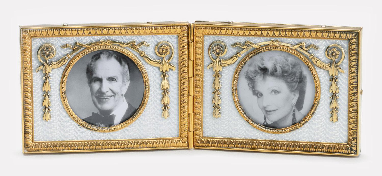 Двойная рамка для фото. Санкт-Петербург, 1908-1917. Мастер Генрих Вигстрем