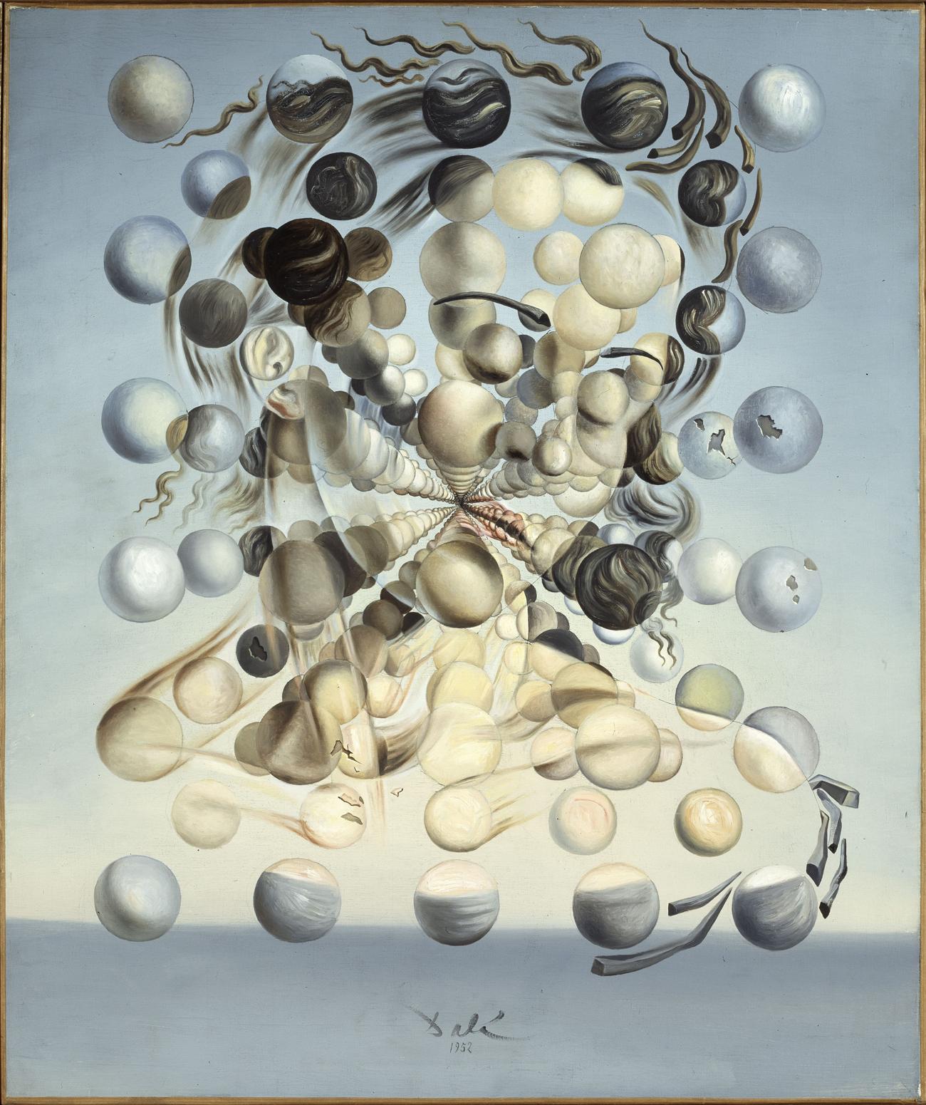 Сальвадор Дали. Gala Placidia. Галатея сфер.1952. Холст, масло. 65 × 54 см. Фонд «Гала — Сальвадор Дали» / © Salvador Dalí, Fundació Gala-Salvador Dalí