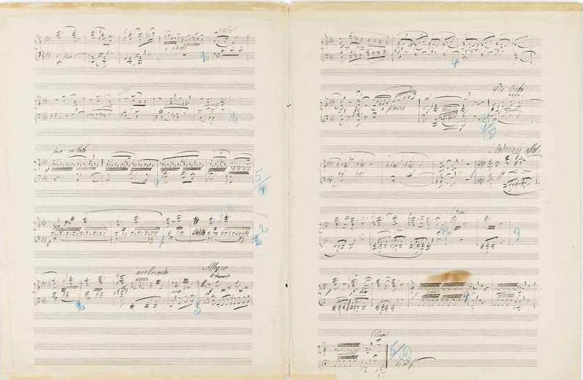 Манускрипт Николая Римского-Корсакова, относящийся к опере Александра Даргомыжского «Каменный гость», 1903