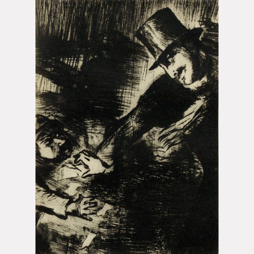 Офорт Сары Шор к роману Ф. Достоевского «Бесы» (Издательство «Academia», 1935)