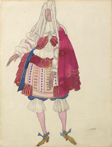 Лев Бакст, 1921 / Дизайн костюма для «Спящей красавицы»: придворный / £15,000-£20,000