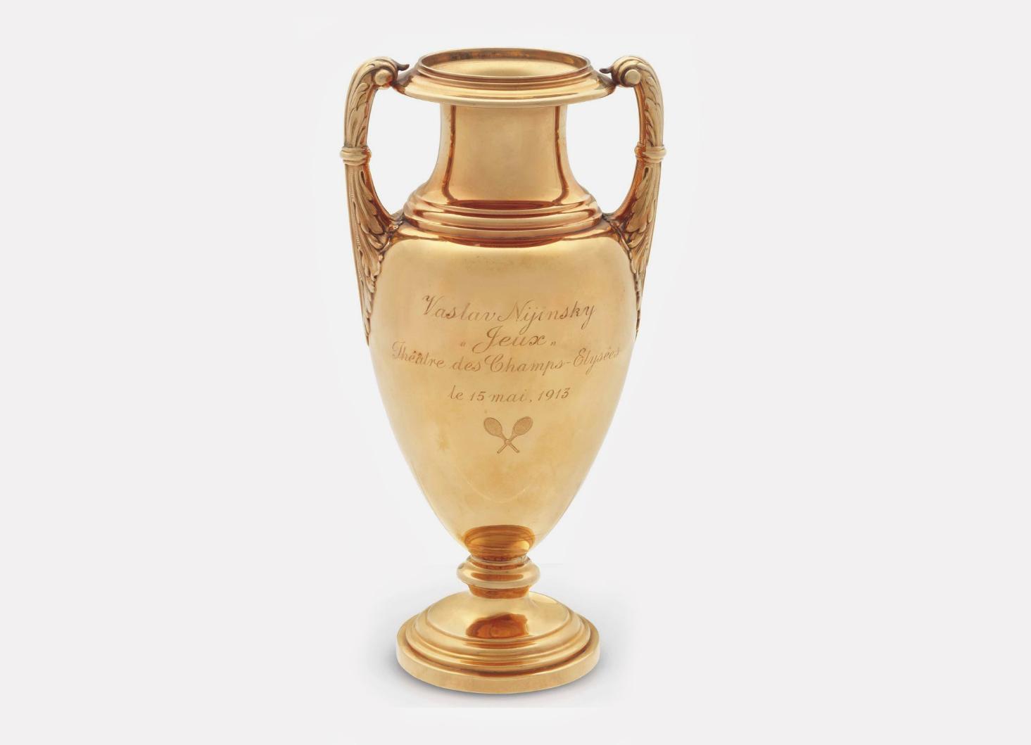 Золотой кубок с дарственной надписью Вацлаву Нижинскому, 1913