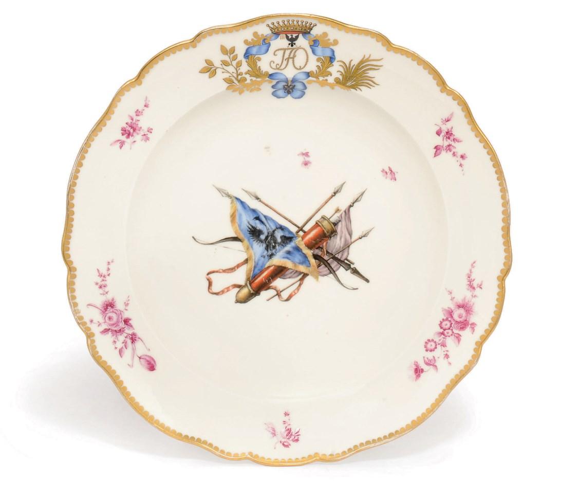 Тарелка из сервиза графа Орлова, приобретенная на аукционе Christie's для музея в 2009 году