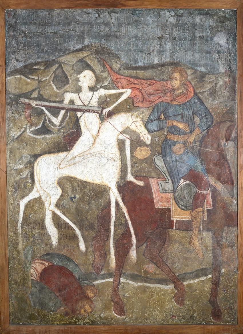 Конь бледный и вороной (всадник Апокалипсиса) / фото Государственный музей архитектуры имени А. В. Щусева, г. Москва