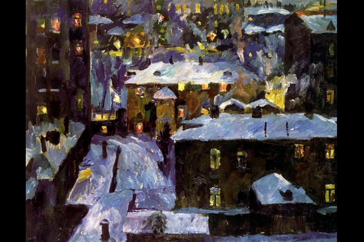 «Ночь на Патриарших прудах» Аристарха Лентулова, 1928. Государственная Третьяковская галерея, Москва