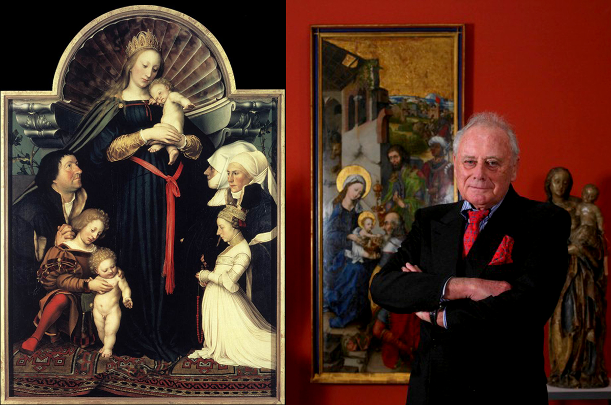 «Дармштадтская Мадонна» Ганса Гольбейна (Младшего), 1526. Находится в собрании мецената и предпринимателя из Баден-Вюртемберга Райнхольда Вюрта, выкупившего полотно у наследников в июле 2011 года за сумму в €40,000,000 / фото www.tomamoyni.net