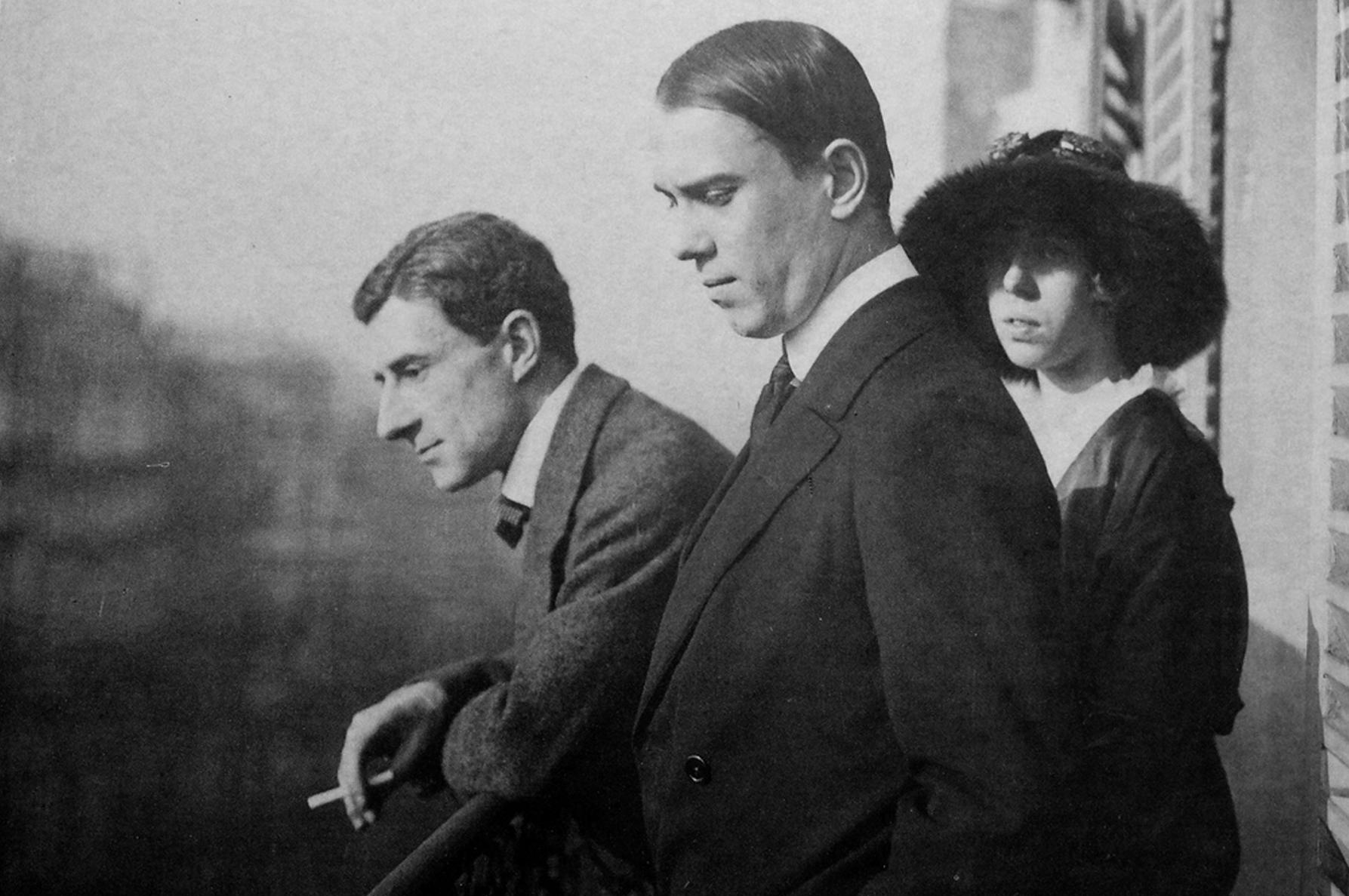 Морис Равель, Вацлав и Бронислава Нижинские. Париж, 1914.