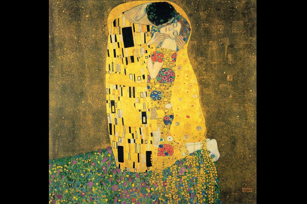 «Поцелуй» Густава Климта, 1907-1908.