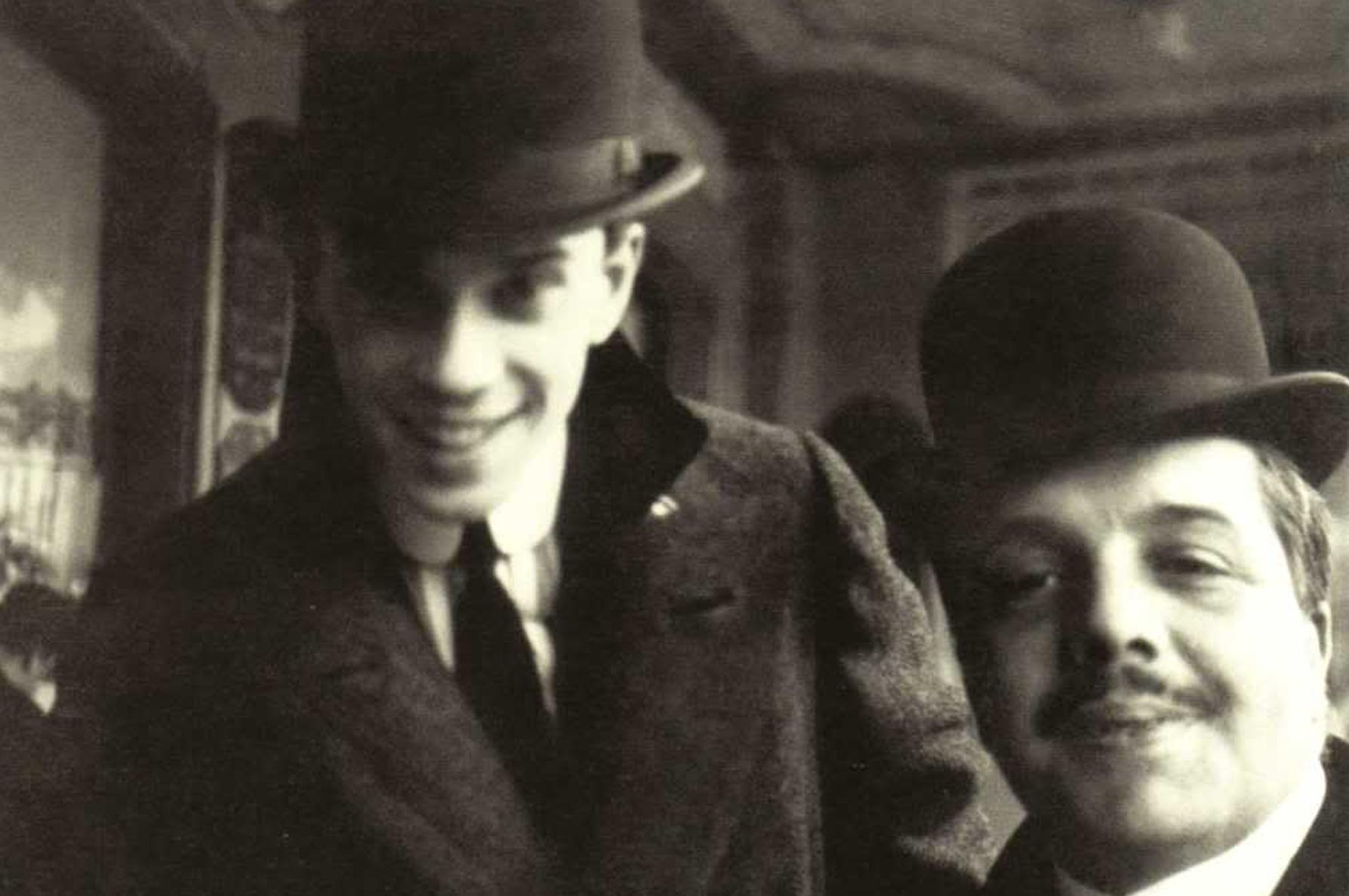 Сергей Дягилев и Вацлав Нижинский в Ницце, 1911.