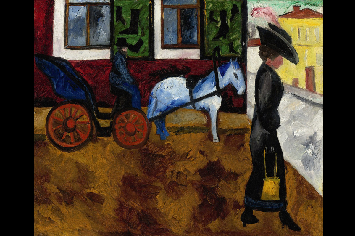 «Улица в Москве» Натальи Гончаровой, 1909. Частная коллекция. Ушла с молотка на Sotheby's в Нью-Йорке в 2011 за $6,354,500