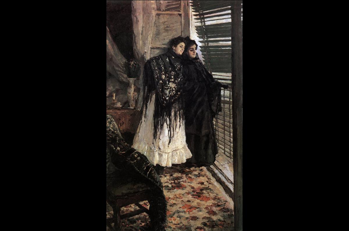 «У балкона. Испанки Леонора и Ампара» Константина Коровина, 1888-1889. Государственная Третьяковская галерея, Москва.