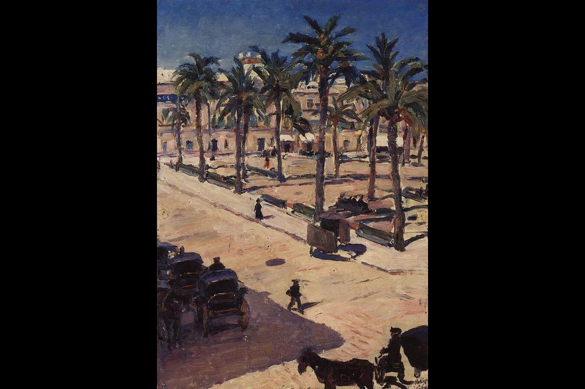 «Площадь Сан-Фернандо в Севилье» Василия Сурикова, 1910.