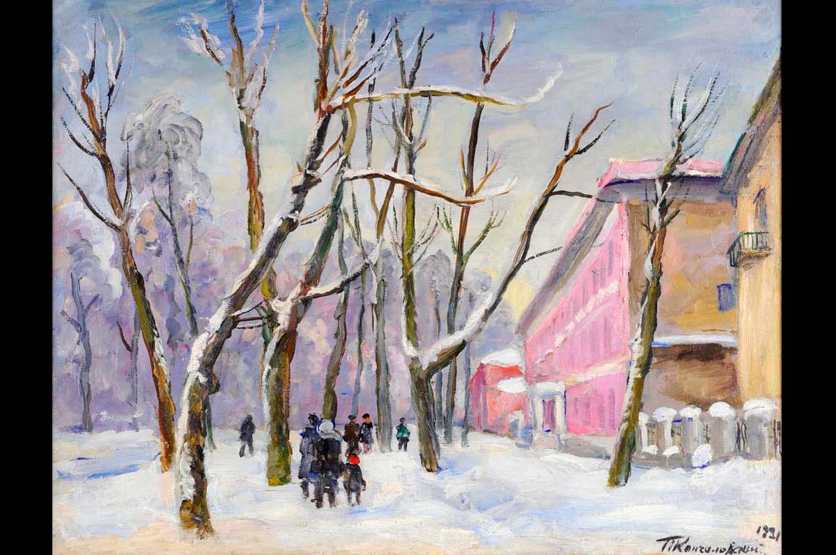 «Большая Садовая. Розовый дом» Петра Кончаловского, 1931
