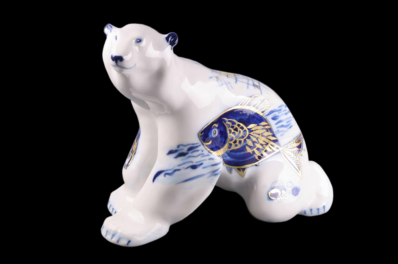 Белый медведь. Художник Марина Никольская, Императорский фарфоровый завод