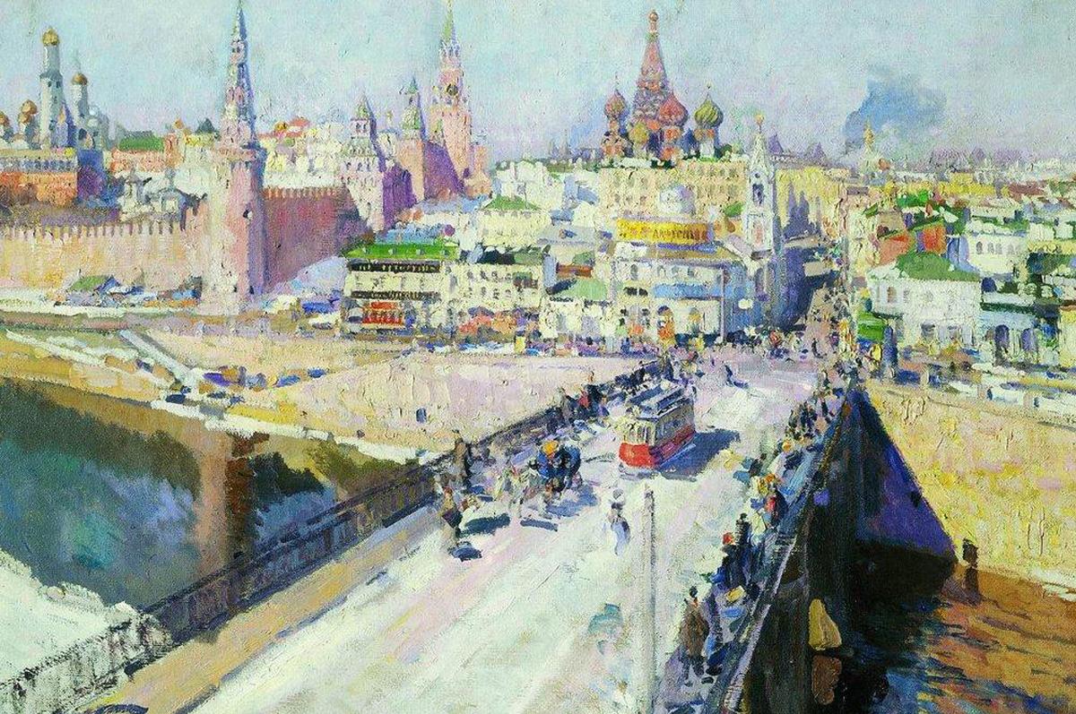 «Москворецкий мост» Константина Коровина, 1914. Государственный исторический музей, Москва