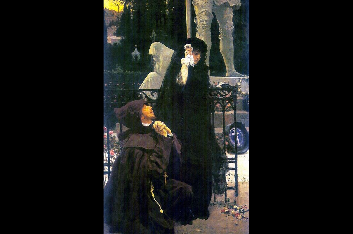 «Дон Жуан и донья Анна» Ильи Репина, 1887-1896. Всероссийский музей А.С.Пушкина, С.-Петербург