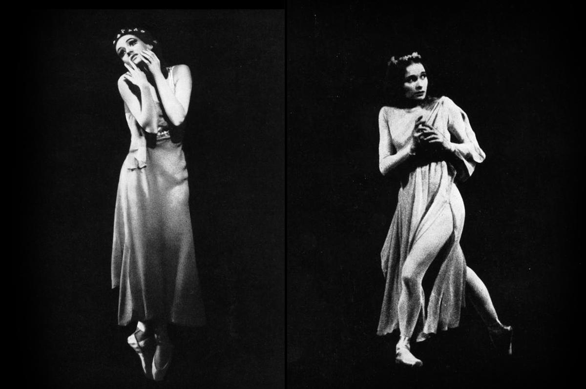 Звезды балета Габриэла Комлева (слева) и Алла Сизова (справа) в роли Офелии.