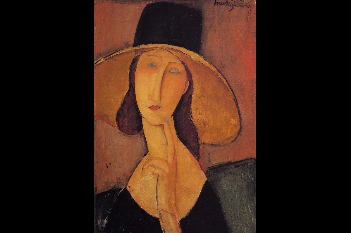 «Жанна Эбютерн в большой шляпе». Амедео Модильяни, 1917.