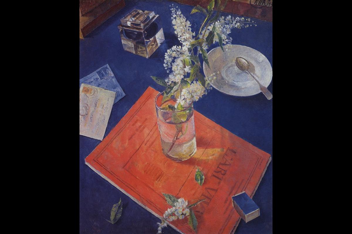 Кузьма Петров-Водкин. Черемуха в стакане,1932