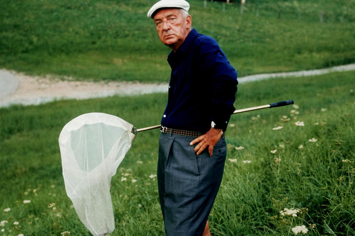 Набоков во время охоты на бабочек, 1975. Фотограф — Хорст Таппе.