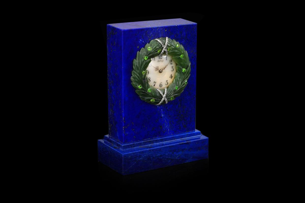 Настольные часы из лазурита работы Хенрика Вигстрёма