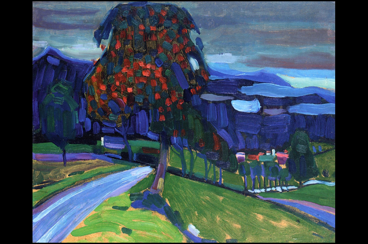 Василий Кандинский. Осень в Мурнау, 1908. Частная коллекция / Wassily Kandinsky. Autumn in Murnau,1908. Private collection