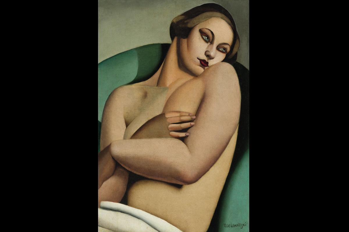 Тамара Лемпицка. «Лежащая обнаженная», 1925