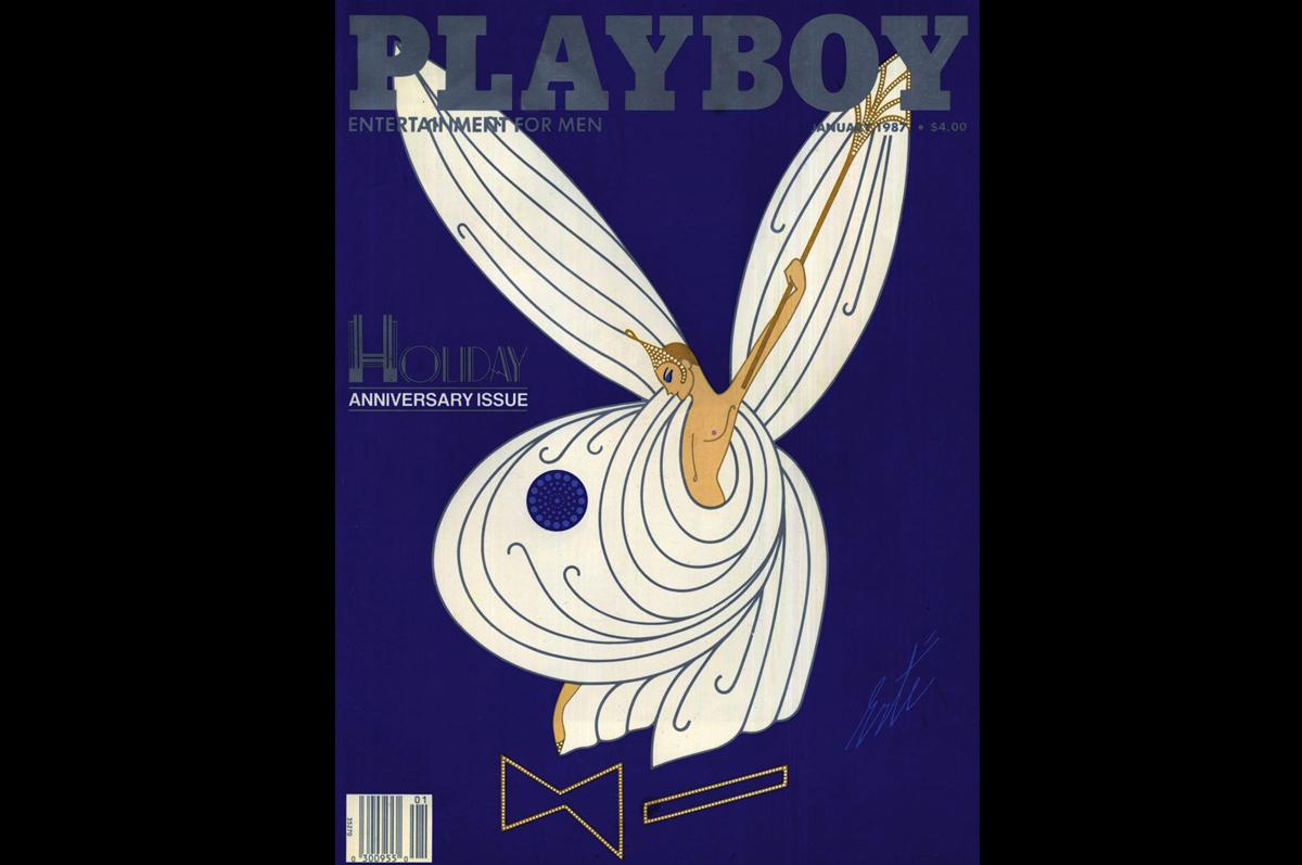 Эрте. Обложка в стиле ар-деко для «Playboy», январь 1987