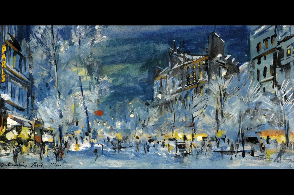 Константин Коровин. Париж зимой. Картина продана в ноябре 2010 на Sotheby's за £18,750