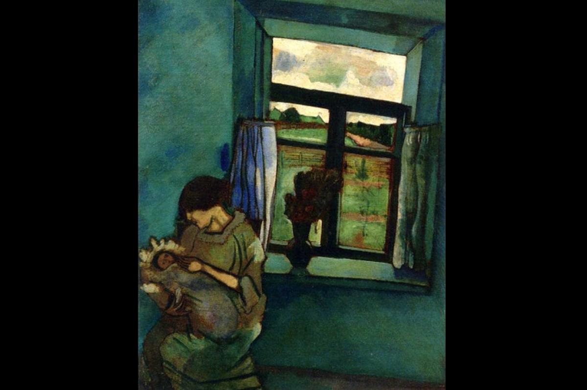 Марк Шагал. Бэлла и Ида у окна, 1916