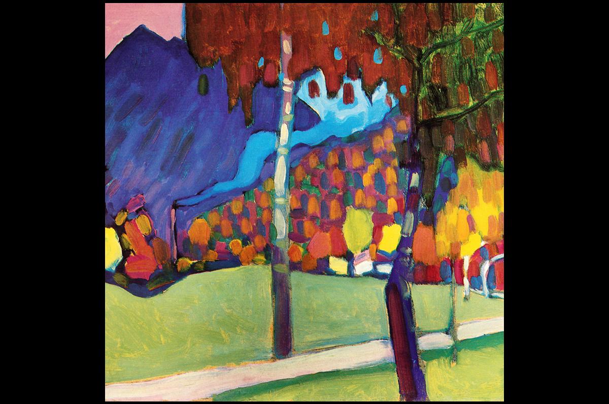 Василий Кандинский. Осенний этюд у Оберау, 1908. Мюнхен, Германия. Городская галерея в Ленбаххаузе / Wassily Kandinsky. Autumn Study near Oberau, 1908. Munich, The Städtische Galerie im Lenbachhaus
