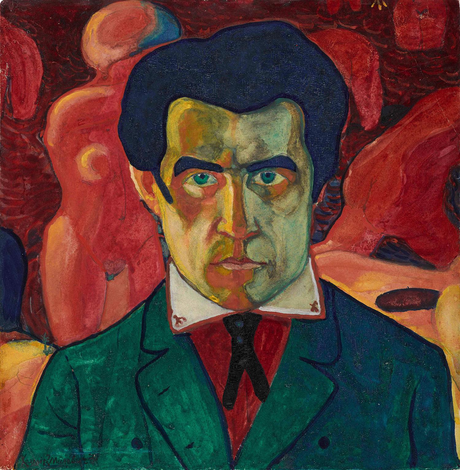 Казимир Малевич. Автопортрет, 1908-1910 / Государственная Третьяковская галерея
