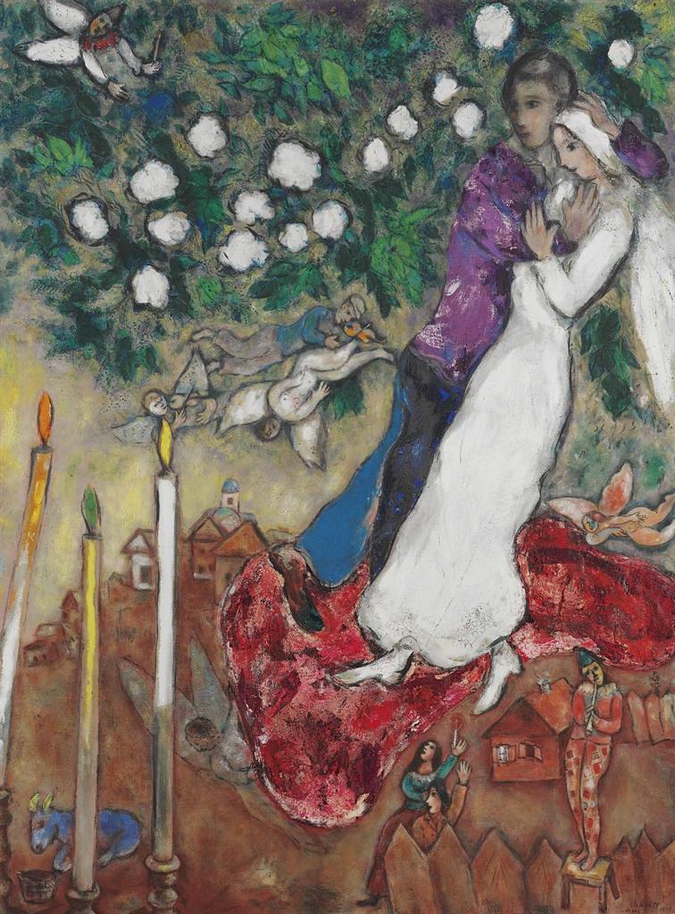 Марк Шагал. Три свечи, 1939