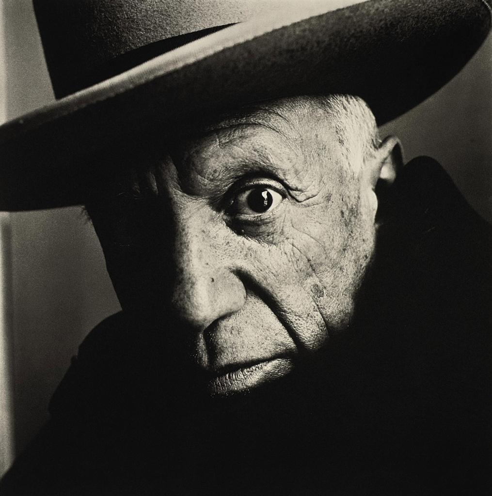 Ирвин Пенн, Пикассо. Канны, 1957.