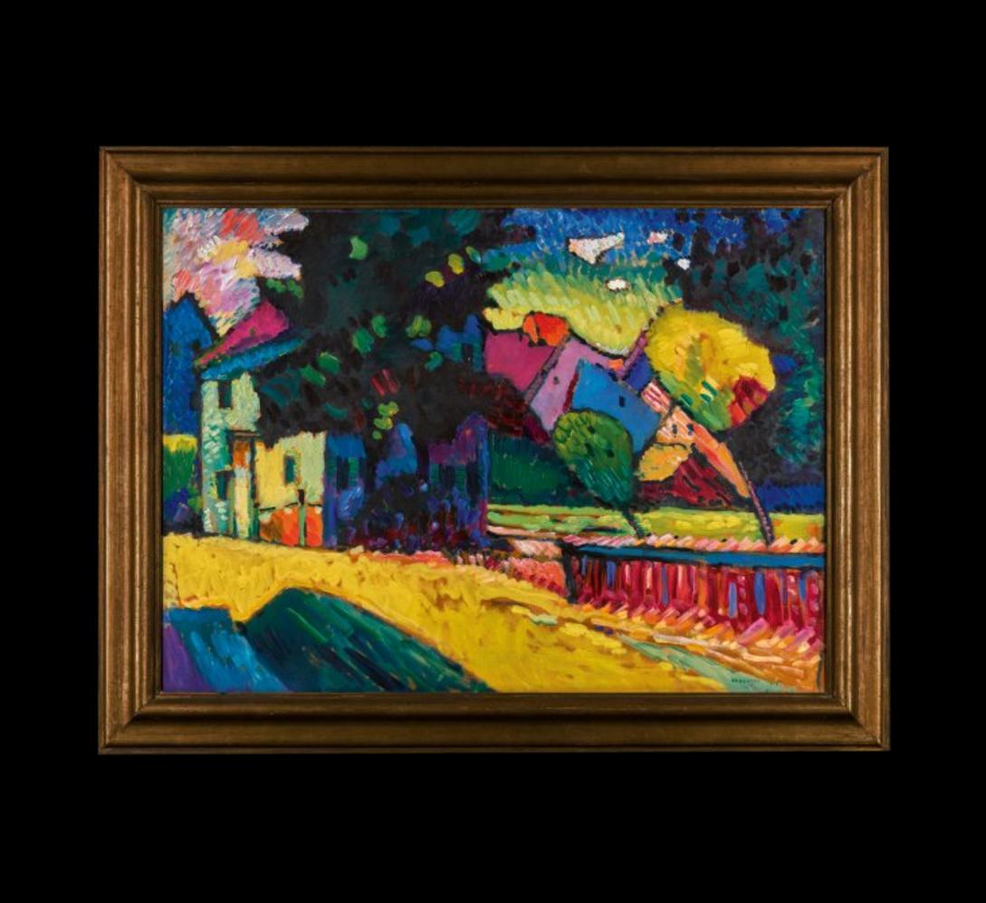 Василий Кандинский. Мурнау — Пейзаж с зеленым домом, 1909