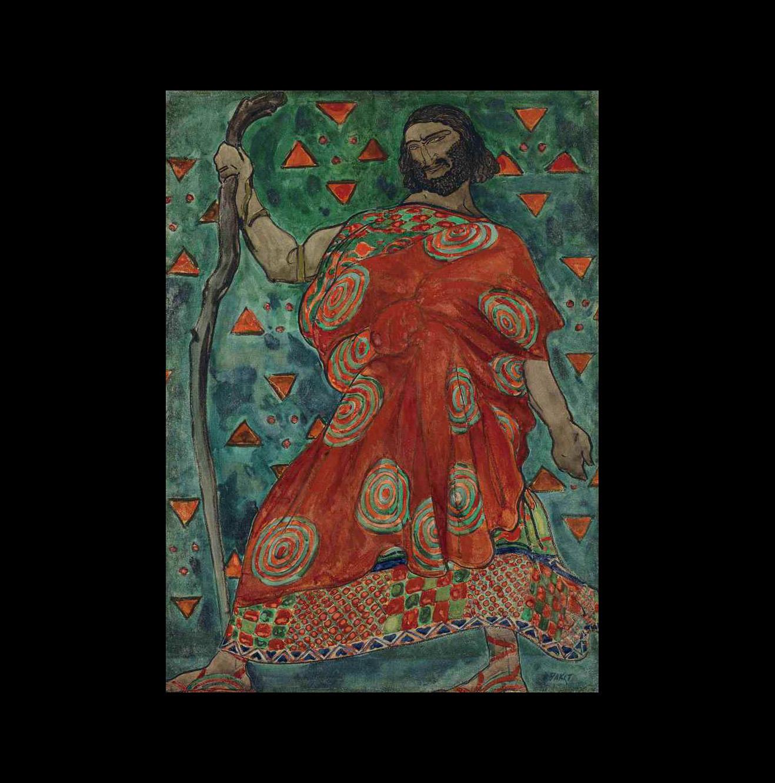 Лев Бакст. Эскиз костюма царя Креонта к балету Иды Рубинштейн «Антигона» (1904)