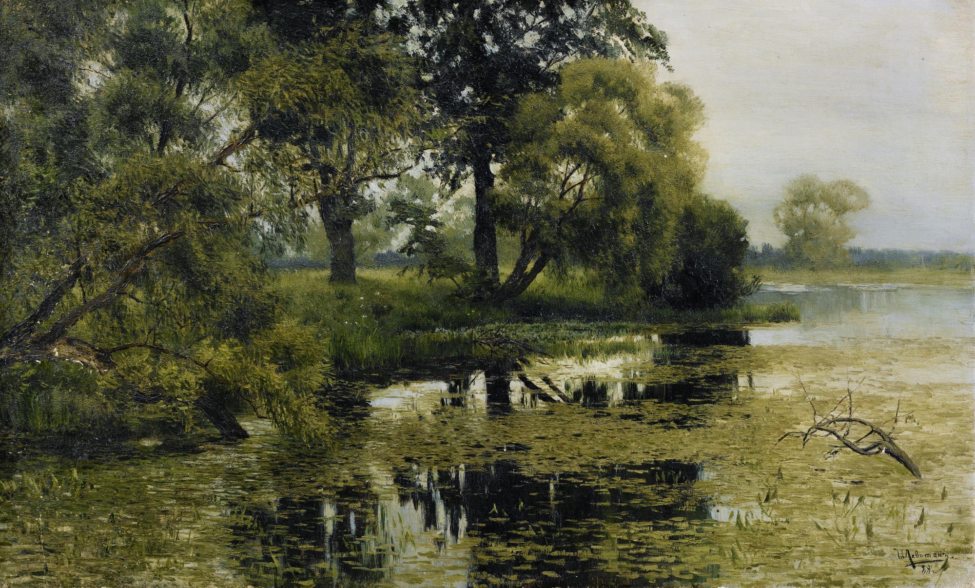 Исаак Левитан. Заросший пруд, 1887-1888