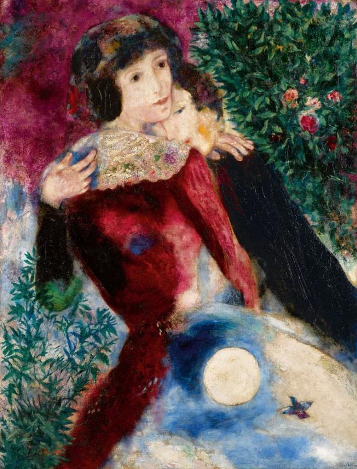 Марк Шагал. Влюбленные, 1928