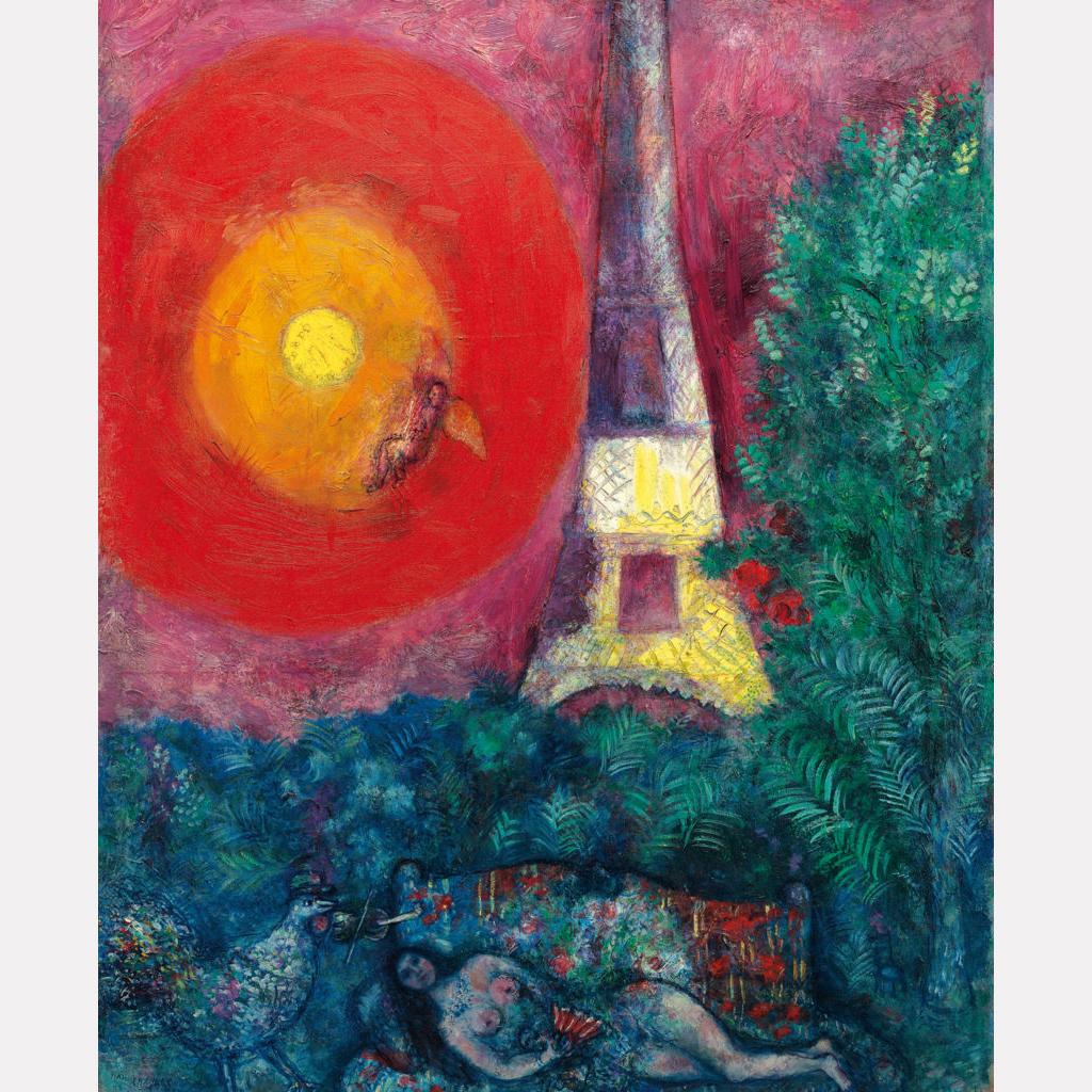 Марк Шагал. Эйфелева башня, 1929 / фото Christie's